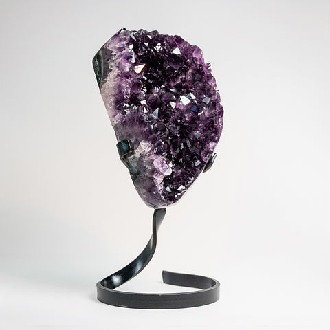 Amethyst Cluster on Stand from Uruguay (6 lbs)