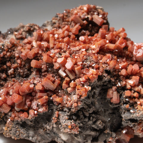 Vanadinite Quartz from Old Yuma Mine, west of Tucson, Pima County, Arizona