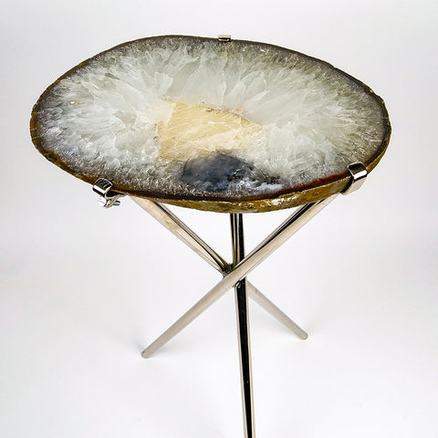 Natural Agate Side Table (10 lbs, 23.5'' tall)