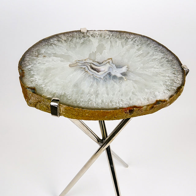 Natural Agate Side Table (11 lbs, 23.5'' tall)