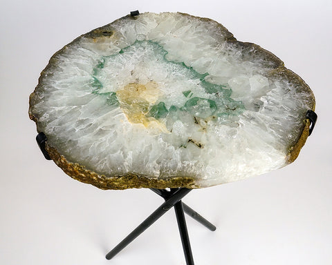 Natural Agate Side Table (14 lbs, 23.5'' tall)