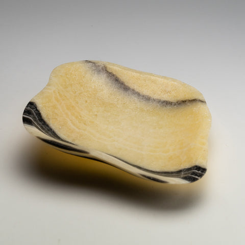 Small Ivory Onyx Flat Bowl From Mexico (1.5 lbs)