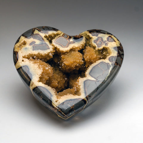 Polished Septarian Geode Heart from Utah (8.5 lbs)