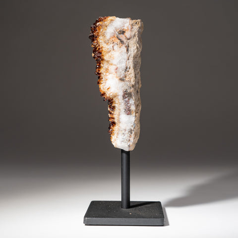 "Citrine Quartz Crystal Cluster on Metal Stand (7.5"", 2.6 lbs)"