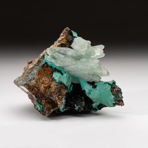 Barite with Malachite from Tsumeb Mine, Otavi-Bergland District, Oshikoto, Namibia