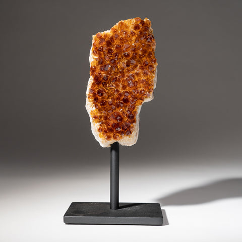 "Citrine Quartz Crystal Cluster on Metal Stand (8.5"", 2.8 lbs)"