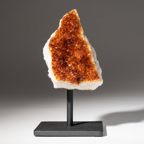 "Citrine Quartz Crystal Cluster on Metal Stand (7.5"", 2.2 lbs)"