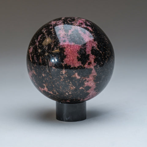 Polished Imperial Rhodonite Sphere from Madagascar (3.5'', 2.5 lbs)