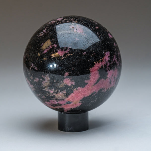 Polished Imperial Rhodonite Sphere from Madagascar (4'', 4 lbs)