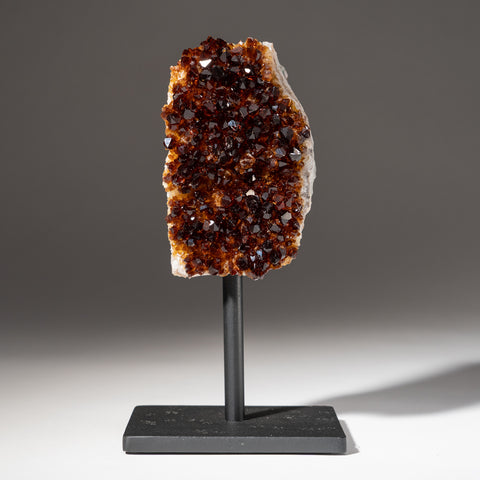 "Citrine Quartz Crystal Cluster on Metal Stand (7.75"", 2.4 lbs)"