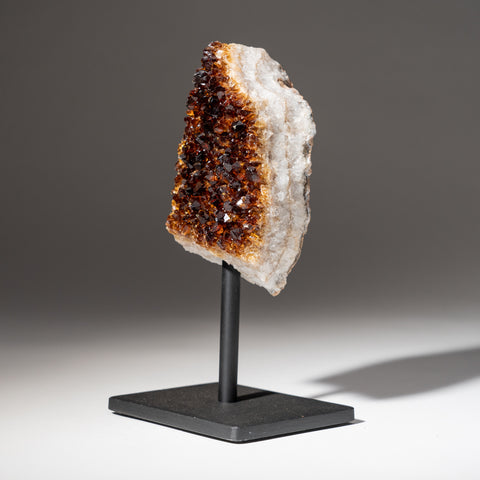 "Citrine Quartz Crystal Cluster on Metal Stand (7.5"", 2.4 lbs)"