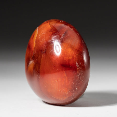 Polished Carnelian Palm Crystal From Brazil (142 grams)