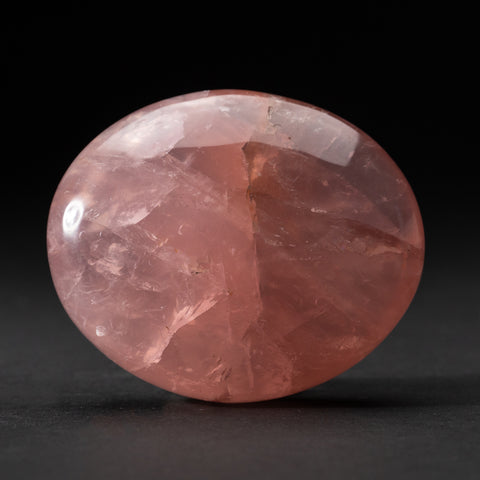 Polished Rose Quartz Palm Crystal From Brazil (279 grams)