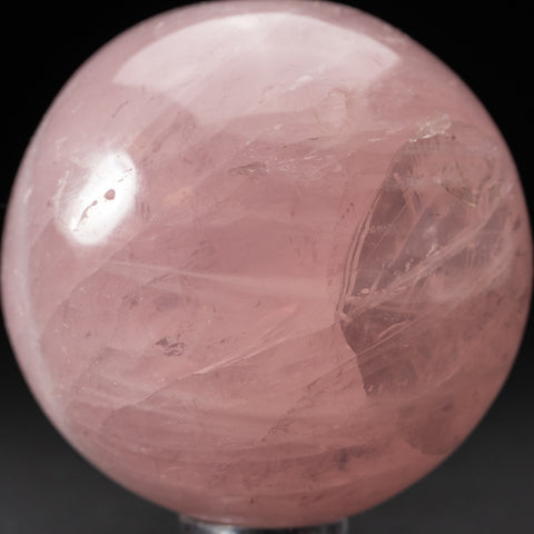 "Polished Rose Quartz Sphere from Madagascar (3"" Diameter,1.6 lbs)"