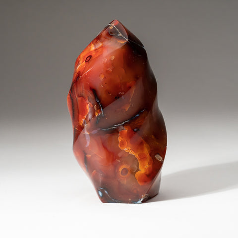 Carnelian Agate Flame Freeform from Madagascar (1.5 lbs)