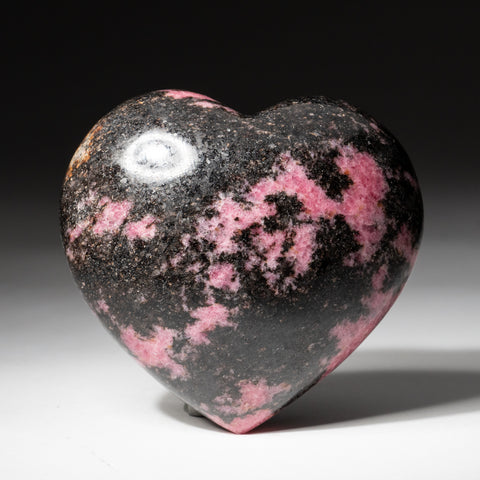Polished Imperial Rhodonite Heart from Madagascar (491.3 grams)