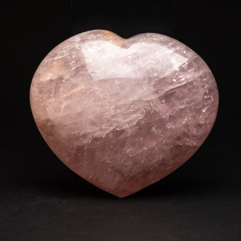 Polished Rose Quartz Heart from Brazil (3 lbs)