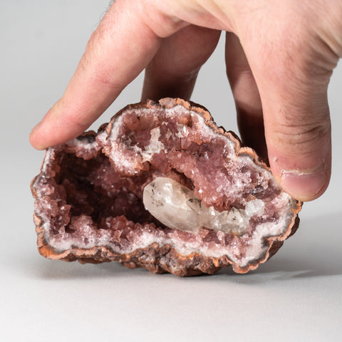 Pink Amethyst Geode Cluster from Neuquén Argentina (291 grams)