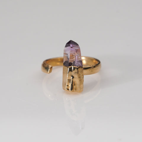 Amethyst Crystal Copper Ring