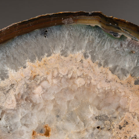 Natural Quartz Agate Slice from Brazil (5.8 lbs)