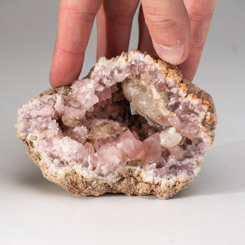 Pink Amethyst Geode Cluster from Neuquén Argentina (427.7 grams)