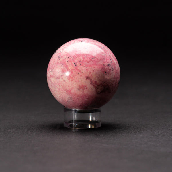 Polished Rhodonite Small Sphere from Peru (201.4 grams)