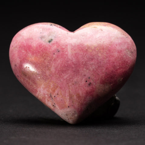 Polished Rhodonite Small Heart from Peru (62.5 grams)
