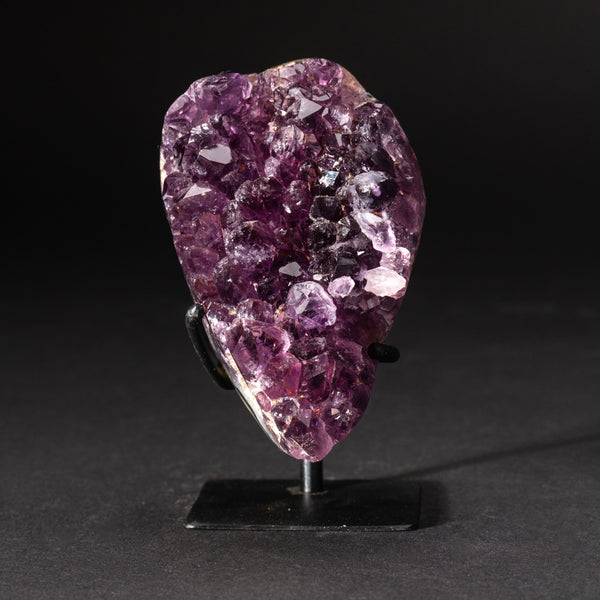 Genuine Amethyst Cluster on Metal Stand (1 lb)