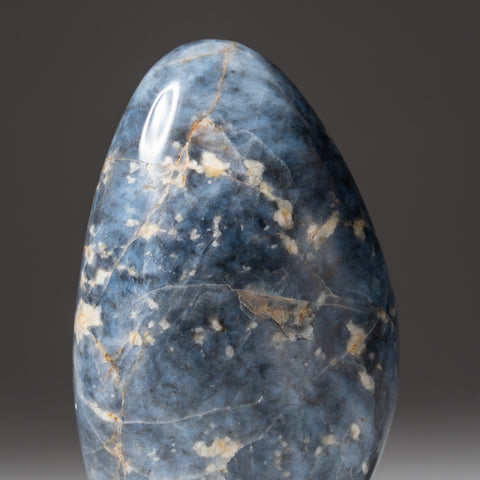 Polished Blue Quartz Freeform From Madagascar (1.2 lbs)