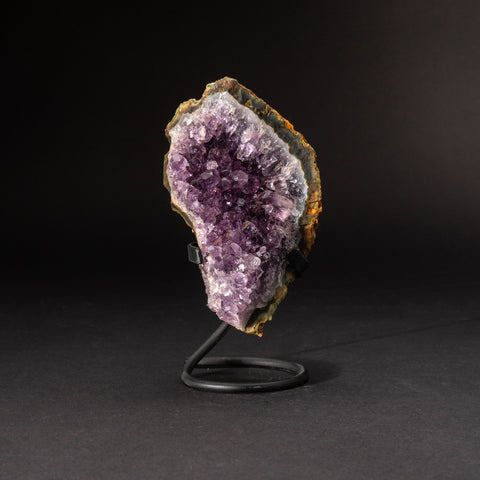 Genuine Amethyst Cluster on Metal Stand (1.5 lb)