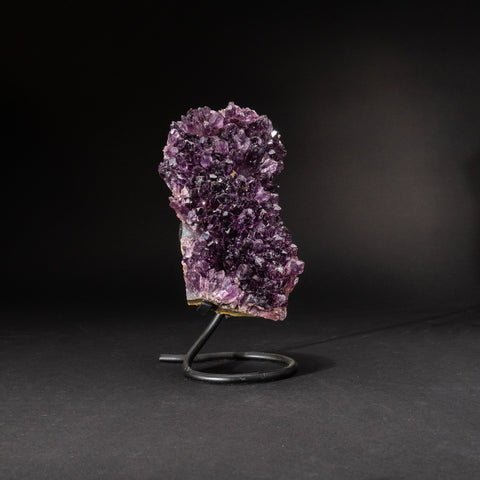 Genuine Amethyst Cluster on Metal Stand (6 lbs)