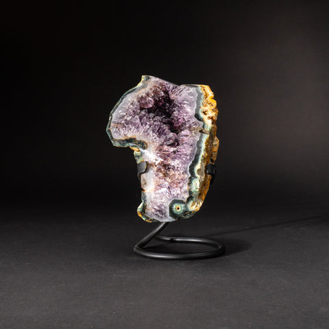 Genuine Amethyst Cluster on Metal Stand (5 lbs)