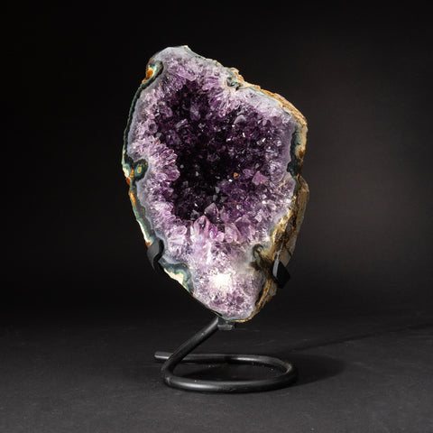 Genuine Amethyst Cluster on Metal Stand (8 lbs)