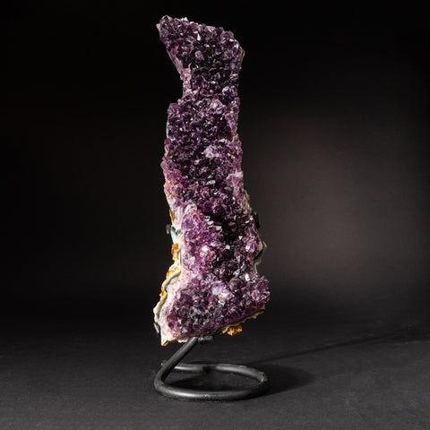 Genuine Amethyst Cluster on Metal Stand (9.5 lbs)