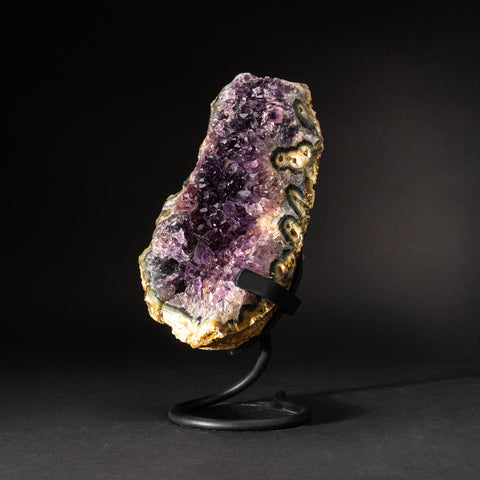 Genuine Amethyst Cluster on Metal Stand (10.5 lbs)