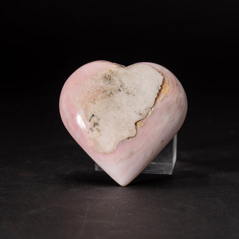 Polished Pink Opal Heart from Peru (150.7 grams)