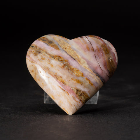 Polished Pink Opal Heart from Peru (155.4 grams)