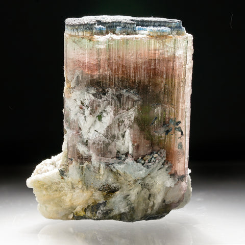 Blue Green Tourmaline Cluster with Albite from Paprok, Nuristan, Afghanistan