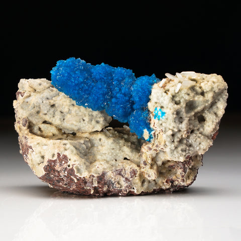 Cavansite on Quartz From Wagholi Quarry, Maharashtra, India