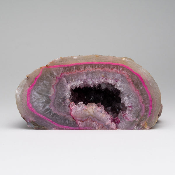 Pink Banded Agate Geode From Brazil (6 lbs)