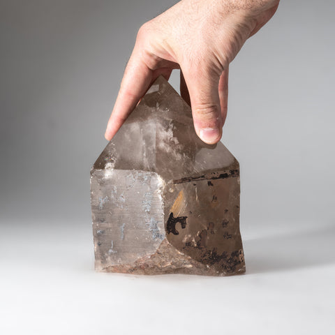Polished Smoky Quartz Point from Brazil (7.5 lbs)