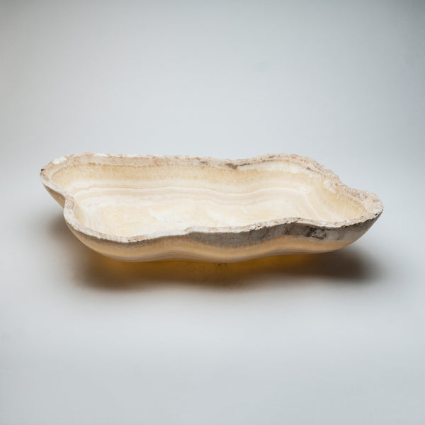 Large Natural Onyx Bowl From Mexico (22 lbs)