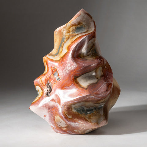 Polished Polychrome Flame Freeform from Madagascar (10 lbs)