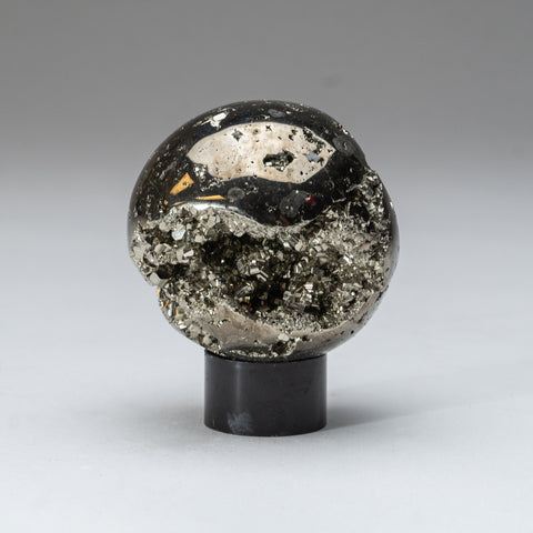 "Polished Pyrite Sphere from Peru (2.75"", 1 lb)"