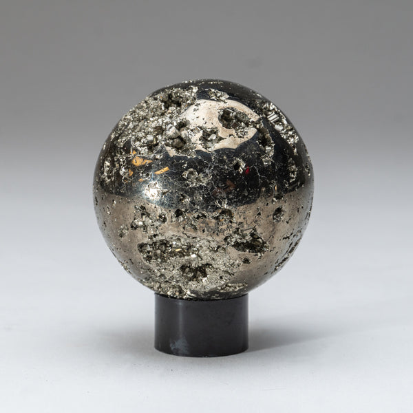 "Polished Pyrite Sphere from Peru (3"", 1.5 lbs)"