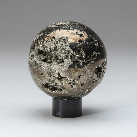 "Polished Pyrite Sphere from Peru (3.25"", 2.5 lbs)"