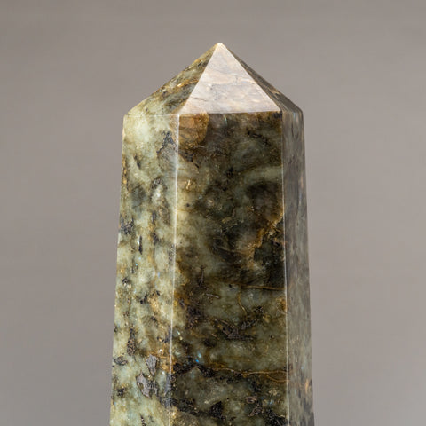Polished Labradorite Obelisk from Madagascar (9.8 lbs)