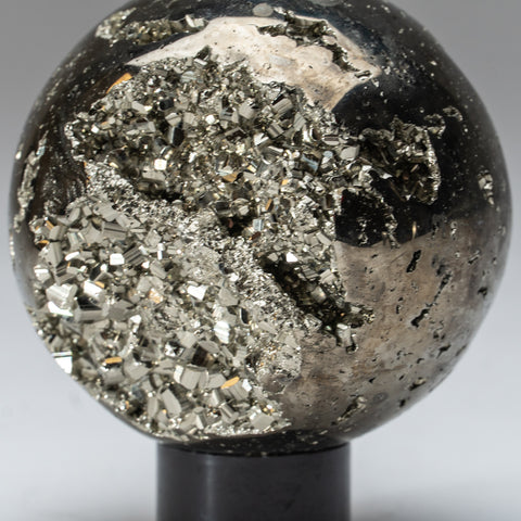 "Polished Pyrite Sphere from Peru (3.25"", 2 lbs)"