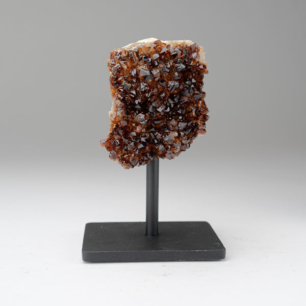 "Citrine Quartz Crystal Cluster on Metal Stand (6.5"", 2 lbs)"