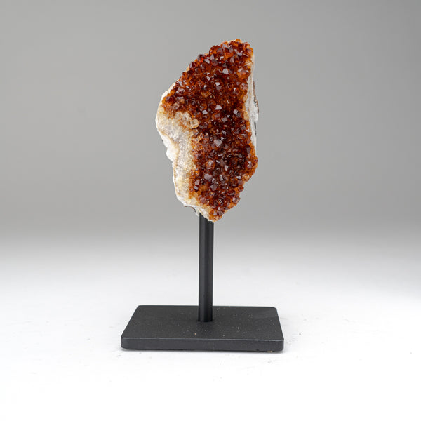 "Citrine Quartz Crystal Cluster on Metal Stand (8"", 2 lbs)"